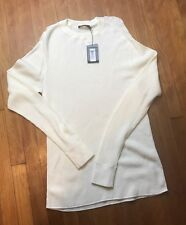 T BY ALEXANDER WANG White Thermal Basic Long Sleeve Top Size S