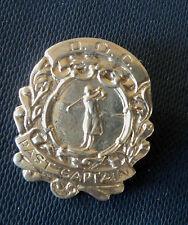 Vintage Silver Golf / Golfing Brooch - D.G.C.  Past Captain h/m 1948 Chester