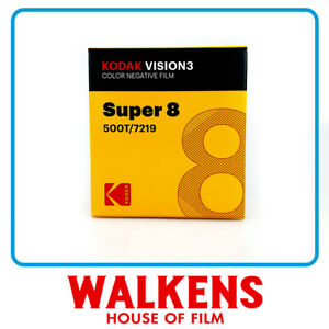 5 ROLLS Kodak Vision3 Super 8 Film - 500T 7219 50ft - FLAT-RATE AU SHIPPING!