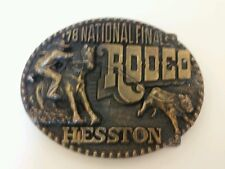 Vintage 1978 Hesston National Final Rodeo Limited Edition Belt Buckle Brass