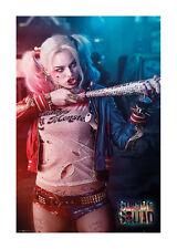 Quadro su pannello in legno MDF Suicide Squad Harley Quinn Misura 60x90 CM