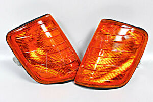 MERCEDES E-Class W124 1985-1995 Amber Corner Lights Lamps Turn Signals PAIR