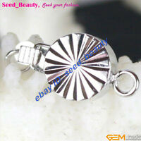 1 Strand White Gold Plated Jewelry Design Clasp Finding 8mm