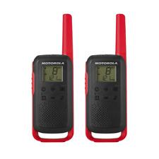 Motorola T62 - Colour Red Walkie Talkie Radio Twin Pack