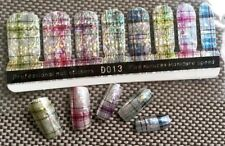 USA 3D Nail Wrap Stickers Foil Glitter Plaid Design Full Cover Nail Art Stickers