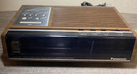 Working Brown Vintage Panasonic RC-6130D  AM/FM Alarm Clock Radio Accu-Set