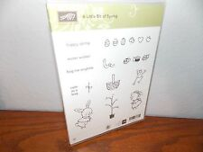 Stampin Up A Little Bit of Spring Easter Basket Bunny 17 Clear Mount Stamp L0717