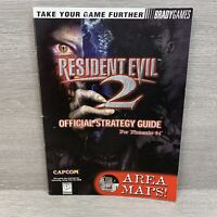 Resident Evil 2 Official Strategy Guide by BradyGames For Nintendo 64 N64 Capcom