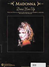 MADONNA 1985 Sheet Music DRESS YOU UP  #5 BILLBOARD HOT 100; #3 HOT DANCE