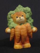 Enesco Lucy Riggs Teddy Bear Figurine Carrot Costume Vegetable Bear Halloween