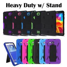 Heavy Duty Military Hybrid Silicone Cover Tough Box Case w/ Stand for Tab Tablet