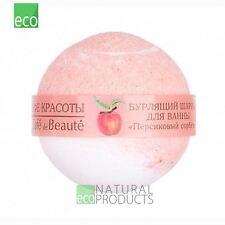 Le Cafe De Beaute Natural Ball for Bathing Bomb Peach Sorbet 120g