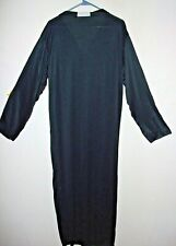 Teen or Adult One Size PRIEST Halloween Costume Robe Black White NWOT Free Ship