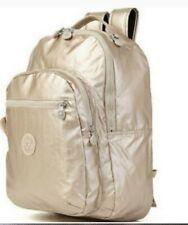 "Kipling Seoul Go Large Metallic 15"" Laptop Backpack Gold ""No monkey"""