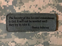 THE BEAUTY OF THE SECOND AMENDMENT TRY TO TAKE IT ACU DARK HOOK MORALE PATCH