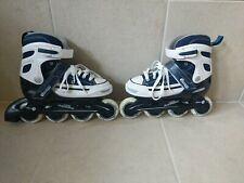 Chicago Inline Skates - Blue White 70mm 82a Wheels Abec3 Bearings Youth Size 1-4