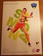 SIMONA HALEP 5X7 2016 WESTERN & SOUTHERN ATP TENNIS TOURNAMENT COLLECTOR CARD