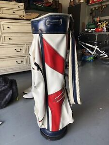 vintage leather golf bag With Headcovers