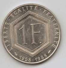 Francia - 1 Franco (Charles de Gaulle) 1988-níquel – 6 G – Ø 24 mm