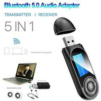 5 in1 Bluetooth 5.0 Audio Transmitter Receiver LCD Adapter Hot USB Sale C1I2