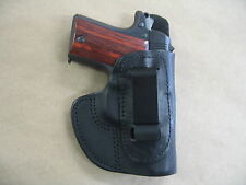 Walther PPK .380 , .32 IWB Molded Leather Concealed Carry Holster CCW BLACK RH