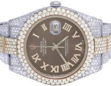 Rolex Datejust II 116300 41MM 18K/ Steel Two Tone Everose Diamond Watch 28.75 Ct