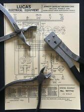 Jowett Javelin Saloon. De-Luxe Deluxe. Lucas Wiring Diagram (W77741)