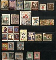 30 Worldwide Merry Christmas Seals Greetings Collection