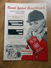 1952 Pall Mall Cigarette Ad  At the Horse Show