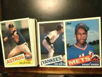 1985-TOPPS LARGE SIZED BASEBALL CARDS SET 1-60 W/DWIGHT GOODEN RC/MATTINGLY-NMMT