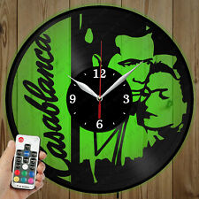 LED Vinyl Clock Casablanca LED Wall Art Decor Clock Original Gift 2948