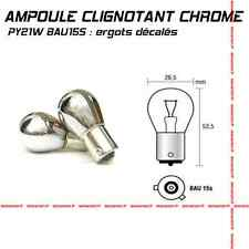 2 AMPOULES de CLIGNOTANT CHROME PY21W BAU15S HALOGENE ANTI ERREUR ODB CANBUS