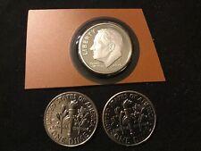 2020-P,D,S Roosevelt Dime Bu & Proof, 3 Coin Set .