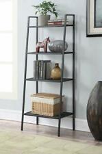 4tier Heavy Duty Metal Leaning Ladder Shelf Bookcase Bookshelf Storage Shelves