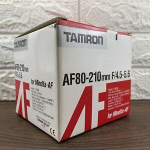 Tamron 80-210mm f/4.5-5.6 Minolta AF Sony A Mount  Portrait Telephoto Lens BOXED