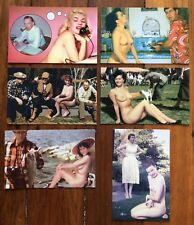 Classic Pin-ups - Post Cards - Topless Pin Up Girls Postcard Pinup Girl - Funny