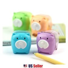 Mini Portable Animal Pig Bear Pencil Sharpener School Stationary : 1pc (Random)
