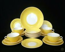 Antique Art Nouveau Aynsley Cups Saucers And Plates Yellow circa 1905