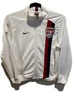 Nike Team Men's Team USA US Soccer White Track Jacket Full Zip Size Large
