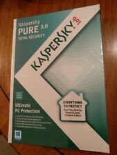 antivirus kaspersky 3.0 Pure Total Security CD New Sealad and Unopened