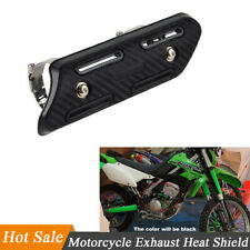 1x Motorcycles Exhaust Pipe Heat Shield Protector Guard Cover Carbon Fiber Style