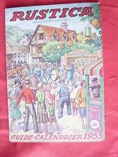 revue Rustica 5 octobre 1952 - supplément - style de vie quotidienne chanson