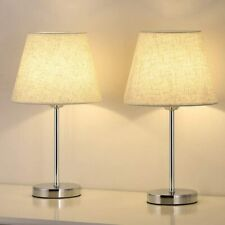 Set of 2 Small Table Lamp Bedside Desk Lamp Nightstand Lamp Bedroom Living Room