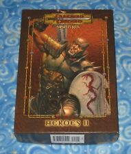 Dungeons and Dragons Miniatures Heroes II Set of 6 w Chainmail Cards Some Damage