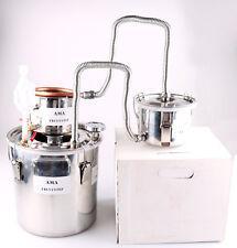 Wasser Alambic mit Thermometer zur Herstellung Alkohol Öle Destille 3 Topf 12L