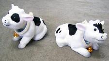 4 BOBBLE HEAD MOVING COWS novelty farm animal car dash toy cow bobbing novelties