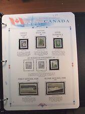 Canada Stamp Album Page Scott# 721,787-89,726-27  1979  MNH C239