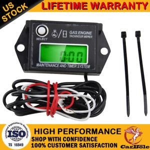 Tiny Tach Digital Hour Meter Tachometer Resettable Job Timer Power Waterproof US