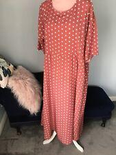 Zanzea Collection BNWT loose long lightweight dress XL spotty terracotta pockets