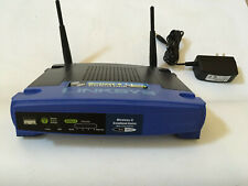 Cisco Linksys Wireless-G Broadband Router WRT54G with charging adapter